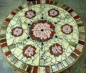 mandala mosaic kitchen table